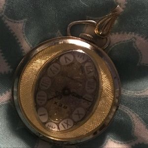 Antique Swiss made pendant watch necklace
